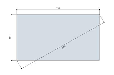 現在の地デジ デジタルTVのアスペクト比は16:9ですが、 簡単に縦横の寸法を求められないだろうかという問題で、SketchUpを使ってみました。 アスペクト比16:9の長方形を書く モデル情報(コマンド+シフト+「I」 […]