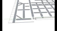 今度は二階の床伏図を書いて行きます。 CAD図のDXFデータからSketchUpへ取り込んだデータのうち、 不要なデータを削除してプッシュアンドプルツールで梁を作って行きます。 SketchUpには、文字情報を取り込むこ […]