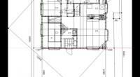 地縄張りのときは建築確認に使う図面を使って、実際に現地に縄を張ります。 そのときに困るのが基礎の対角線を現場で計算しなければならないのと、 配置図には建物の外形線しか書いておらず、一階の平面図が書いていない事が多いので  […]